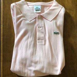 Lacoste Shirts - Lacoste Size 8 Men's Pink Polo Shirt